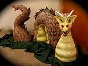 Dragon Ceramics - Red Dragon Lady by Viva Jones