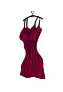 Dress Drawings Metal Prints - Red dress Metal Print by Frank Tschakert