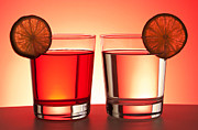 Bartender Prints - Red drinks Print by Blink Images