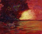Julianne Felton Art - Red Dusk by Julianne Felton