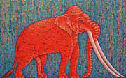Semi Abstract Originals - Red Elephant  by Opas Chotiphantawanon