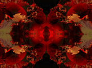 "\""algorithmic Abstract\\\"" Prints - Red Embers Print by Claude McCoy"