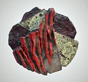 Flow Ceramics - Red eruptions by Valerio Schembri