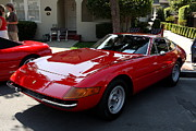 Italian Sportscars Framed Prints - Red Ferrari Daytona . 40D9356 Framed Print by Wingsdomain Art and Photography
