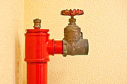 Tap Posters - Red fire hydrant Poster by Tom Gowanlock