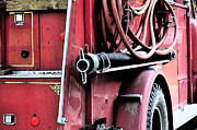Fire Framed Prints - Red Fire Truck 1 Framed Print by Peter  McIntosh