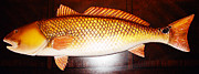 Fish Sculpture Originals - Red Fish 32 Inch by Jonathan Gatica