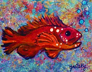Red Fish Print by Paintings by Gretzky