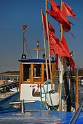 Trawler Metal Prints - Red Flags Metal Print by Robert Lacy