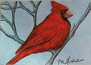 Atc Originals - Red Fluff by Patricia R Moore