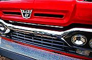 Truck Digital Art Originals - Red Ford Pickup by Michael Thomas