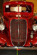 Car Auction Framed Prints - Red Ford Framed Print by Susanne Van Hulst