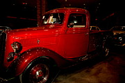 Car Auction Framed Prints - Red Ford Truck Framed Print by Susanne Van Hulst