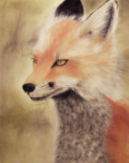 Fox Pastels Prints - Red Fox Print by Joanne Giesbrecht