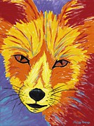 Fort Collins Painting Framed Prints - Red Fox Framed Print by Peggy Quinn