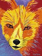 Red Fox Print by Peggy Quinn