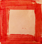 Handmade Paper Paintings - Red Frame   by Igor Kislev
