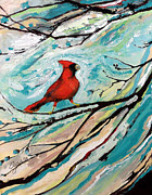Print On Canvas Originals - Red Fury by Cynara Shelton
