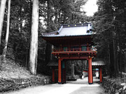 Samurai Photo Prints - Red Gate Print by Irina  March