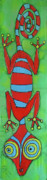 Fun Tapestries - Textiles - Red Gecko by Kelly     ZumBerge