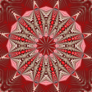 Purple Kaleidoscopes. Prints - Red Geographic Design Print by Laura Mountainspring