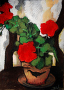 Composition Pastels - Red Geranium by EMONA Art