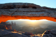 Mesa Arch Posters - Red glow at Mesa Arch in Canyonlands NP Poster by Pierre Leclerc