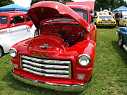 Medford Photos - Red GMC by Teri Schuster