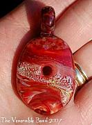 Red Jewelry - Red Gone to Heaven Stone by Paula McDonough