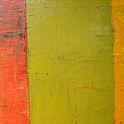 Gritty Paintings - Red Green Yellow by Michelle Calkins