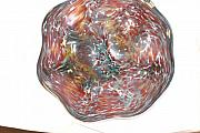 Bowl Glass Art - Red handblown glass bowl by Jason Pollack