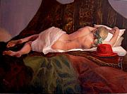 Nude Women Art - Red Hat 3 by Donelli  DiMaria