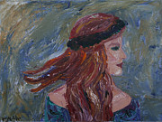 Red Band Painting Originals - Red Head by Megan Wood