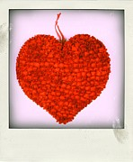 Hang Posters - Red heart Poster by Bernard Jaubert