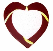 Dichroic Art Glass Glass Art Originals - Red Heart by Sandy Feder