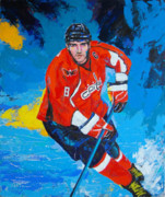 Alexander Ovechkin Paintings - Red Heat by Dojlidko