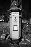 Pillar Box Prints - red hexagonal penfold victorian postbox the square Buxton Derbyshire England UK Print by Joe Fox