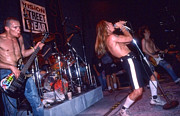 Red Hot Chili Peppers Metal Prints - Red Hot Chili Peppers - Skate Escape 1988 - 02 Metal Print by Gregory Dyer