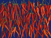 Red Hot Chili Peppers Paintings - Red Hot Chili Peppers by Susan Alden