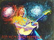Red Hot Chili Peppers Paintings - Red Hot Chili Peppers by Vivian Crowhurst