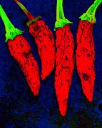 Hot Peppers Digital Art Framed Prints - Red Hot Chili Framed Print by Stephen Anderson