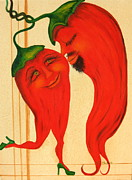 Red Hot Chili Peppers Paintings - Red Hot Lovers by RJ McNall