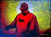 Gigs Art - Red House Drummer by Sadie Reneau