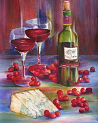 Dessert Wine Paintings - Red by Imelda Gregov