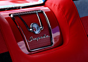 Best Car Prints - Red Impala Print by Kurt Golgart