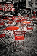 Chairs Digital Art Prints - Red In My World - New York City Print by Angie McKenzie