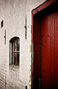 White Walls Metal Prints - Red In Perspective Metal Print by Odd Jeppesen