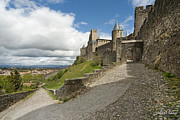 Robert Lacy Prints - Red Jacket in Carcassonne Print by Robert Lacy