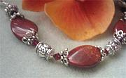 Red Jewelry - Red Jasper by Melanie A Leon