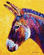 Donkeys Prints - Red Jenny Print by Marion Rose